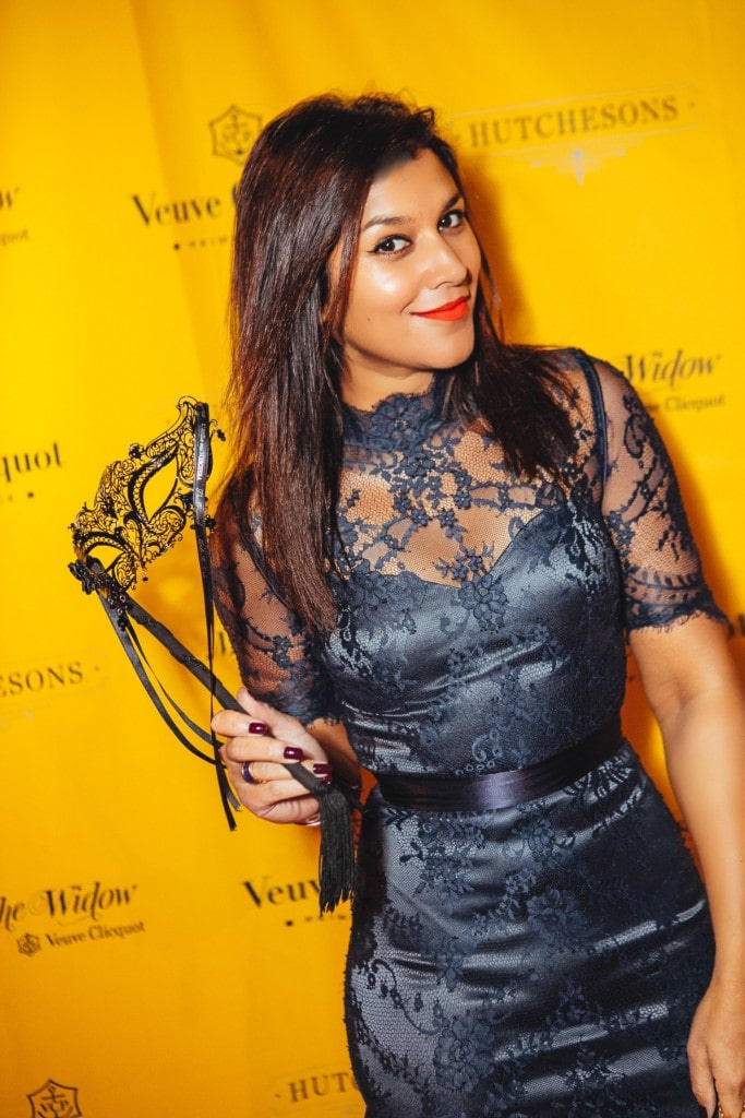 The Style Traveller halloween party Veuve Clicquot