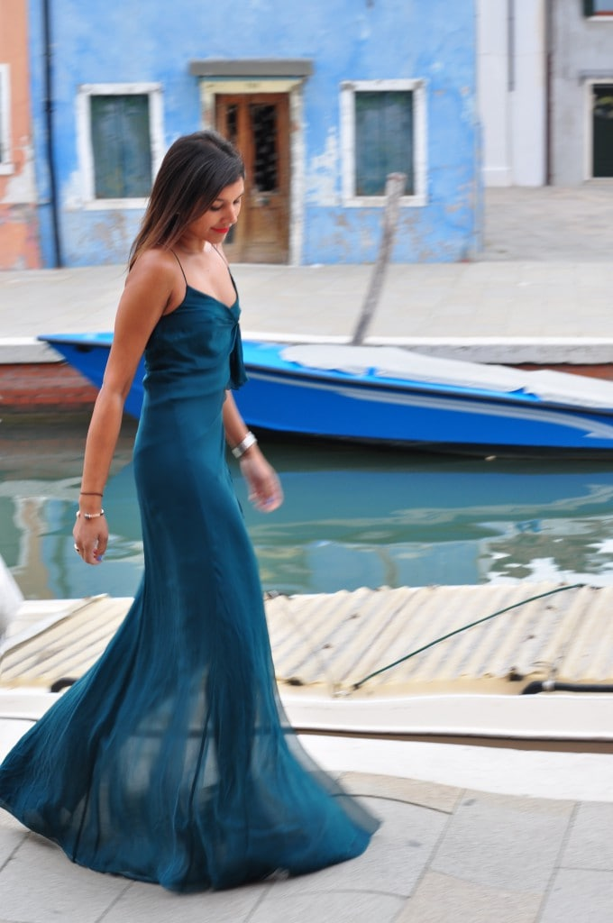 ball gowns in Burano Italy