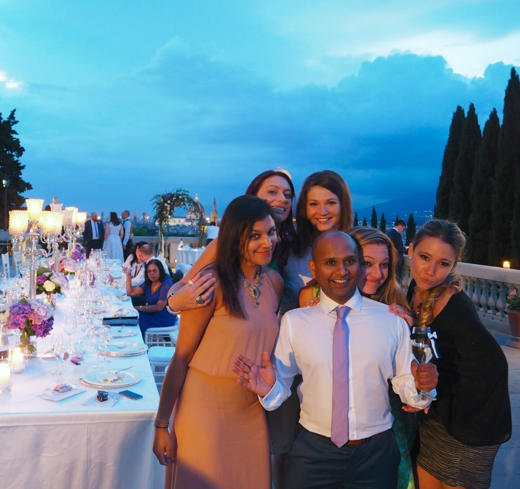 The wedding feast in Florence after party
