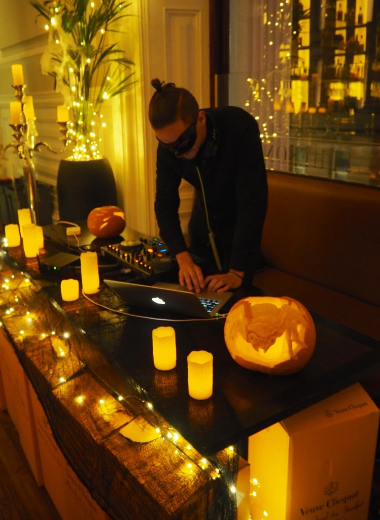 Veuve Clicquot Halloween Masquerade Ball scotland drinks DJ
