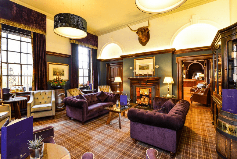 The Grand hotel york living room and bar