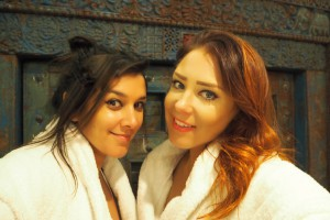 Bonnie Rakhit and lorna Luxe girls spa break