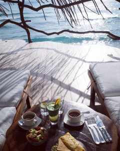 Breakfast balcony at Azulik Tulum