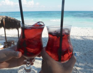 Hotel Esencia Tulum welcome drink