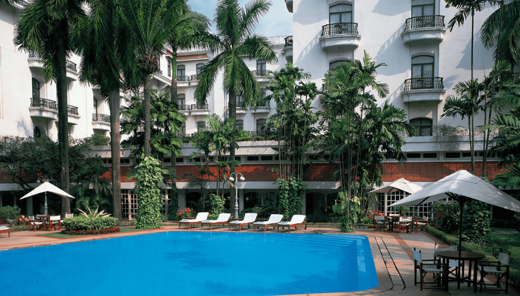 The oberoi Grand Kolkata swimming pool exterior
