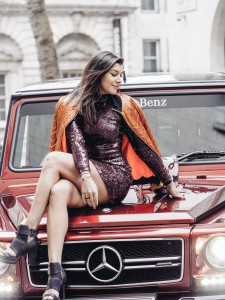 Bonnie Rakhit The Style Traveller London Fashion week mercedes