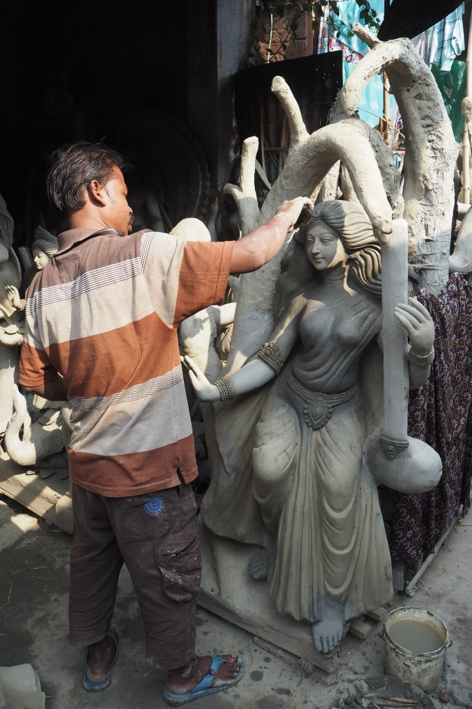 Kumartuli sculptors avenue Kolkata the artist