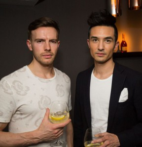 Model Chris baxter and Friend Remy Martin