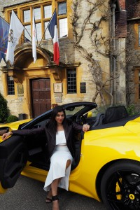 The style traveller bonnie Rakhit at Belmond Le Manoir with Ferrari