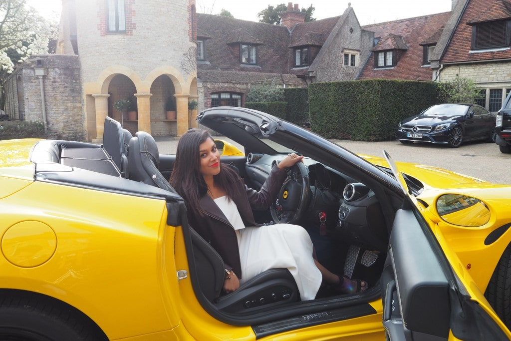 The style traveller bonnie Rakhit at Le Manoir Belmond Ferrari weekend