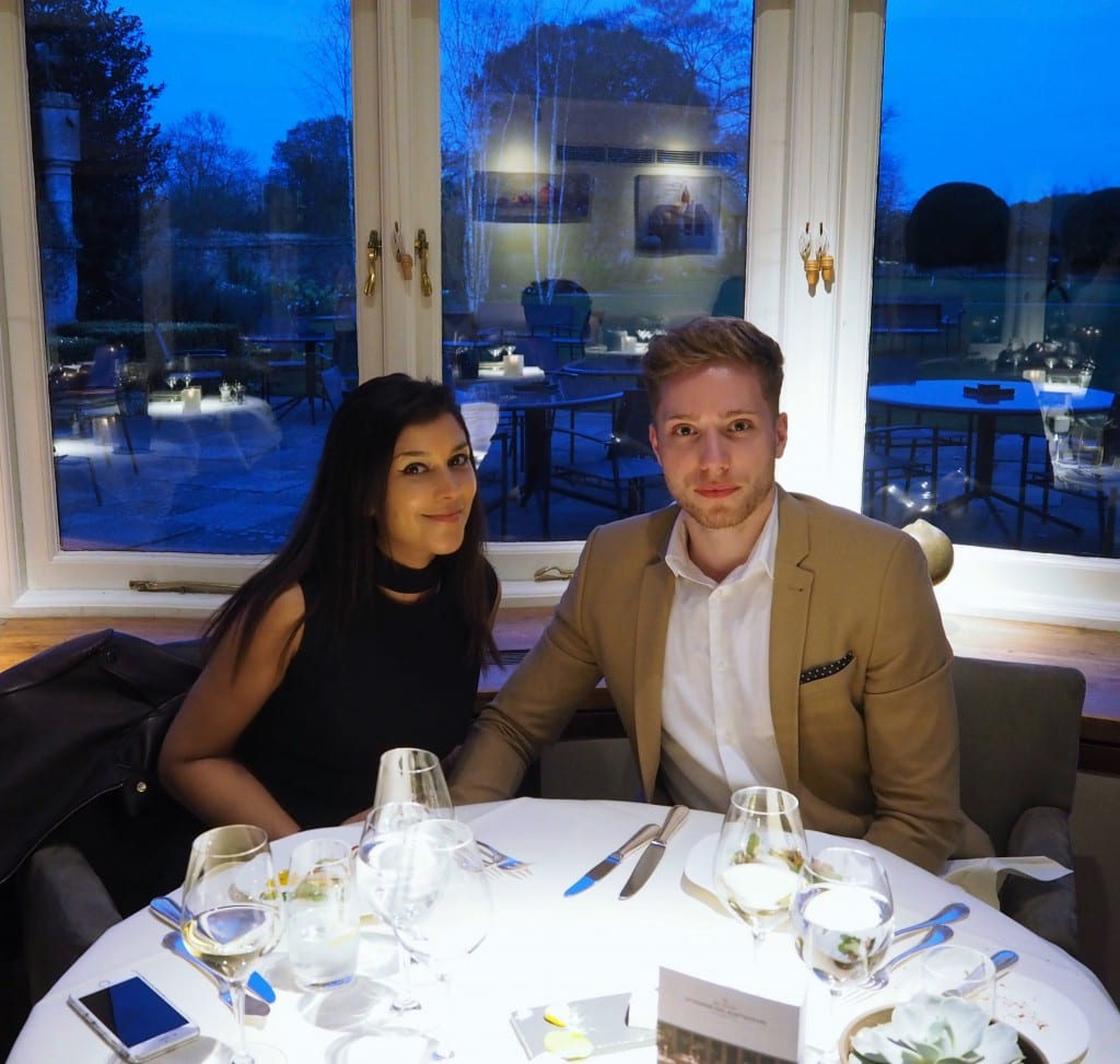 dinner at Belmond Le Manoir aux Quat Saison