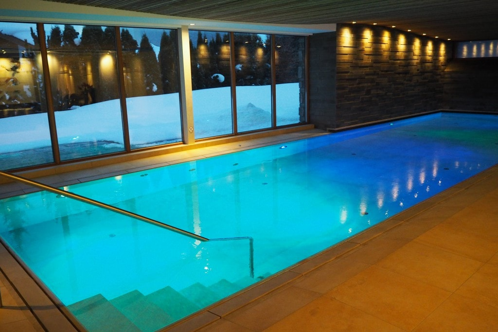 The Style traveller Bonnie Rakhit Austria ski tannenhof spa swimming pool
