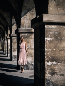 Olympus what to wear i Paris Whistles pink dress