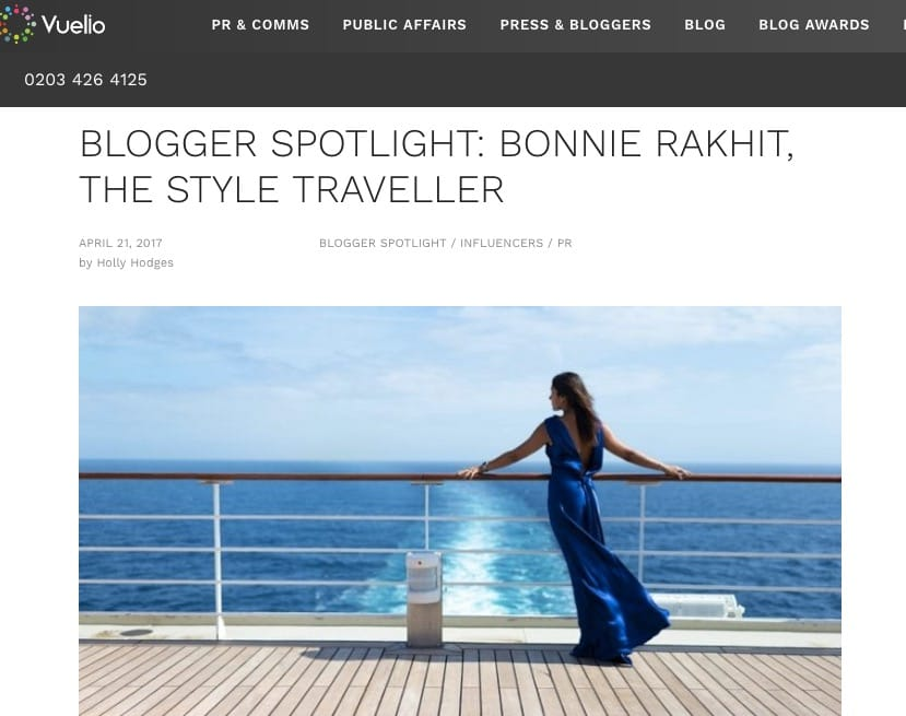 Vuelio blogger top ten feature