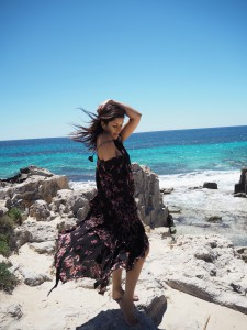 Bonnie Rakhit The Style Traveller in Ibiza beach