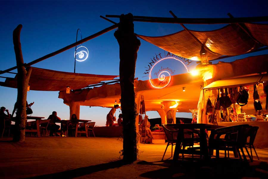 Sunset Ashram boho Ibiza beach club
