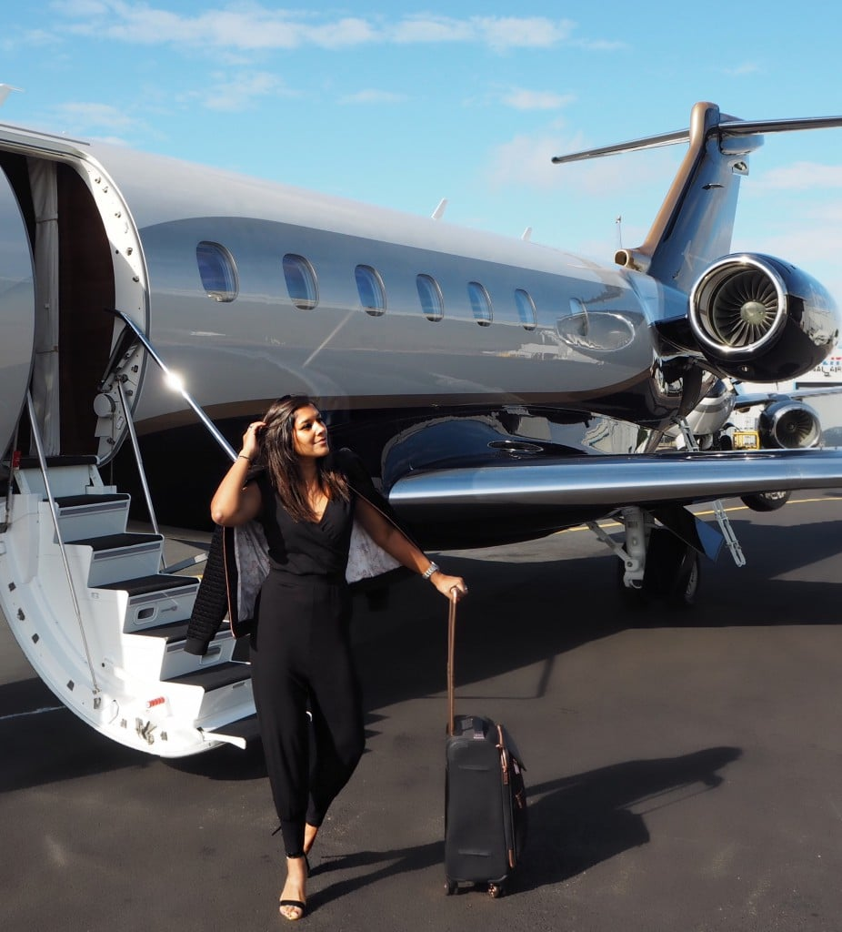 The Style Traveller Bonnie Rakhit what to wear on a flight ted baker
