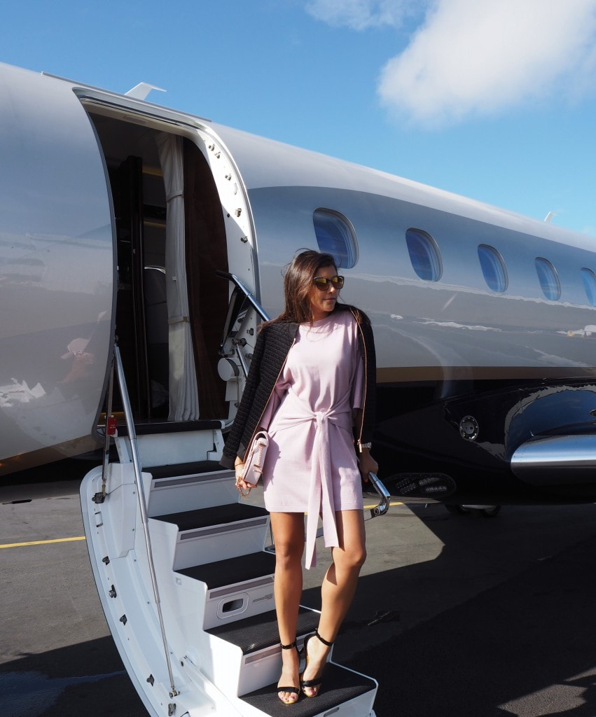 The Style Traveller Bonnie Rakhit what to wear on a flight victor private jets ted baker
