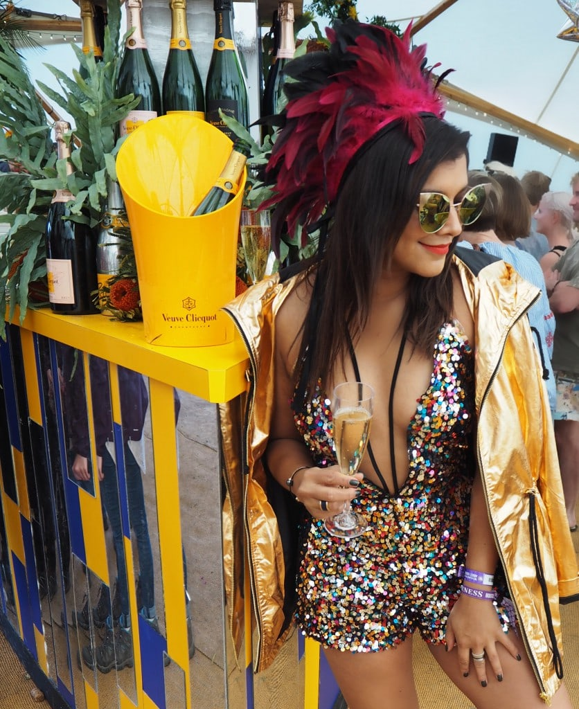 festival playsuit Bonnie Rakhit veuve clicquot WildernessVC