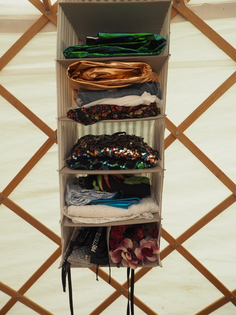 boutique camping wilderness yurt wardrobe