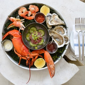 JW Marriot Beach house Cayman islands Anchor & Den Seafood Platter