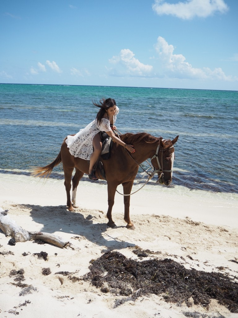 cayman Islands beach horse riding Bonnie Rakhit