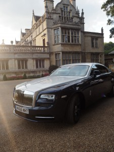 Rolls royce wraith at Rushton Hall