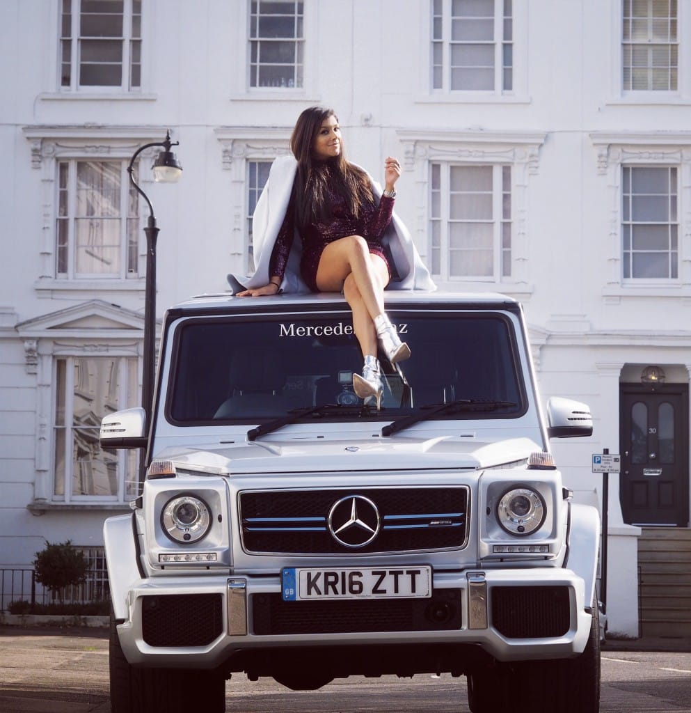 The style traveller bonnie rakhit mercedes g-wagon