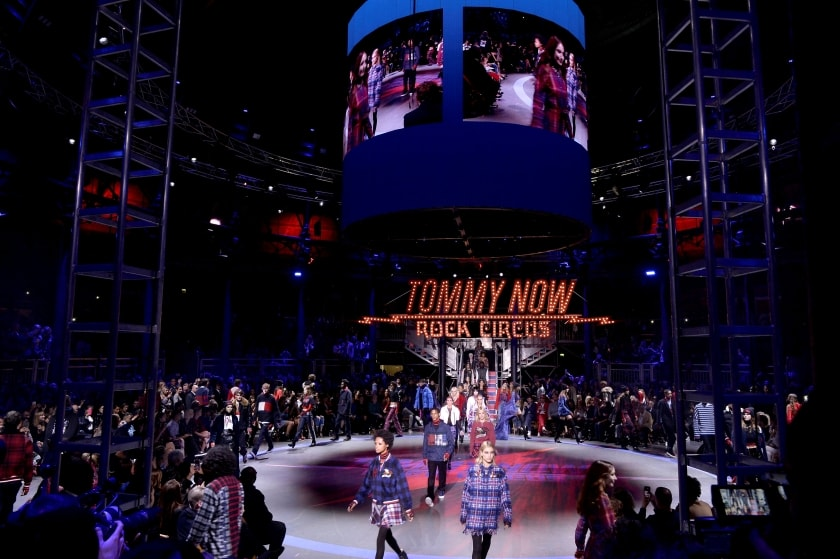 Tommy Hilfiger Gigi hadid rock circusLondon Fashion Week London