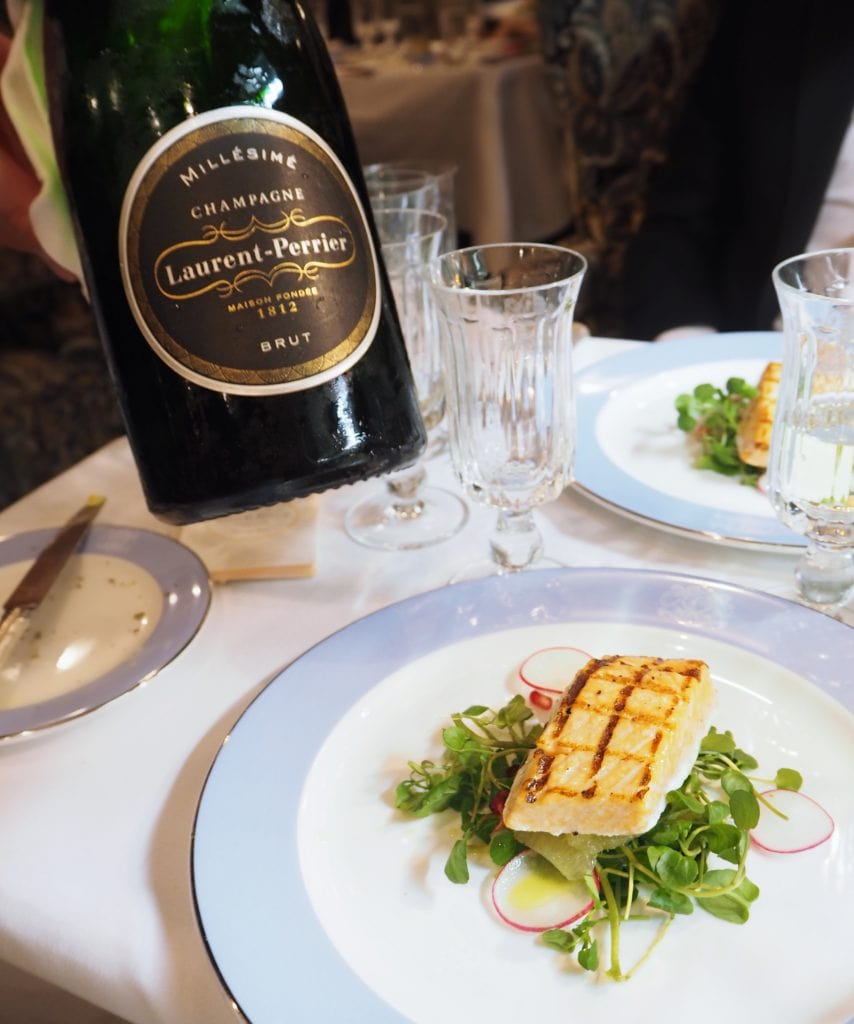 laurent perrier Luxury dinner on board the Belmond British Pullman and Orient Express