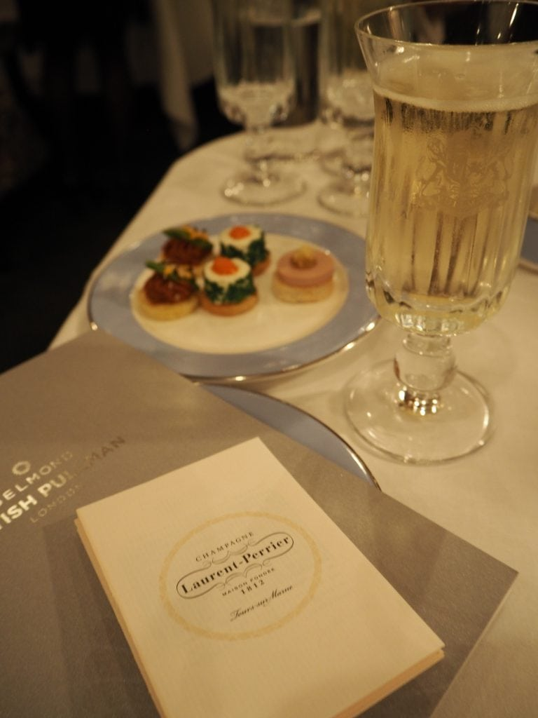 Luxury dinner on board the Belmond British Pullman and Orient Express