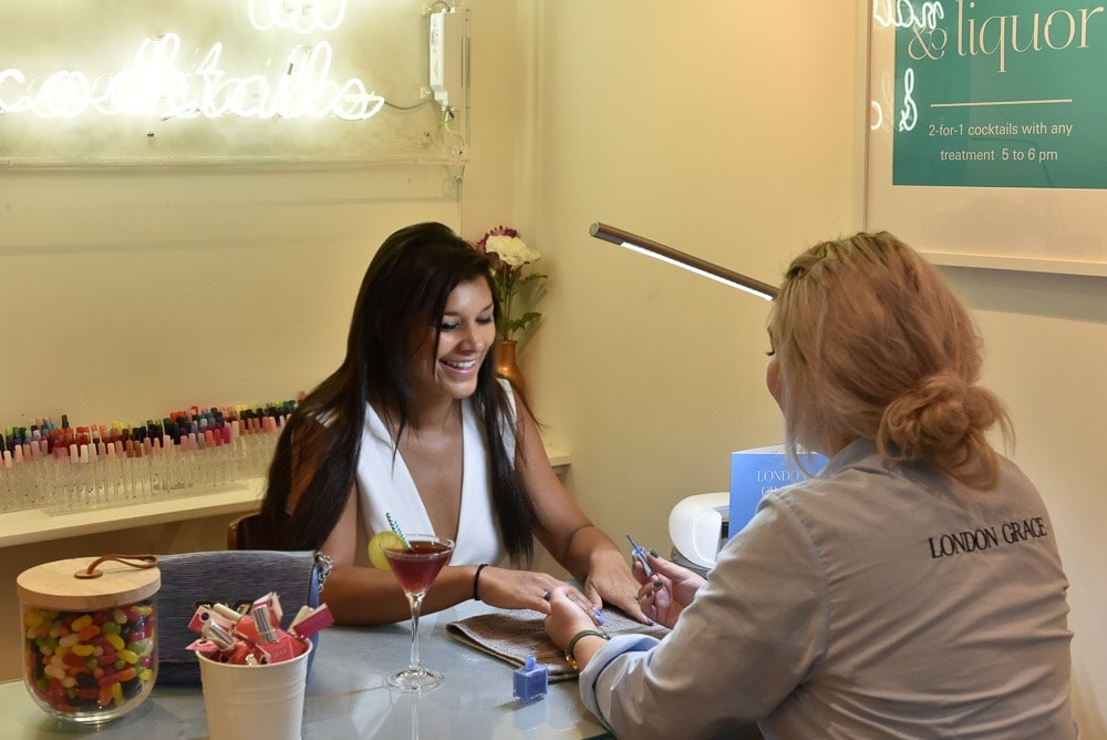 grace London manicurist clapham common cocktails bonnie rakhit x