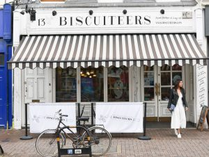 Bonnie Rakhit style traveller Amex shop small biscuiteers clapham