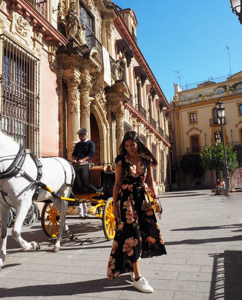 Bonnie Rakhit style traveller in Seville Spain