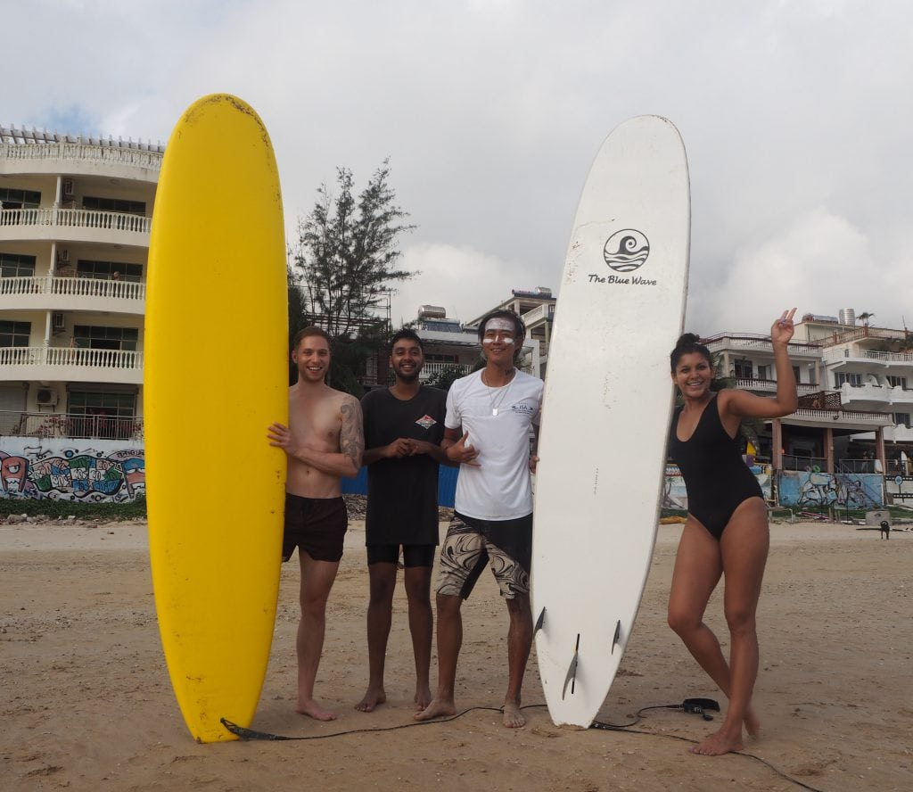 Surfing school hainan china