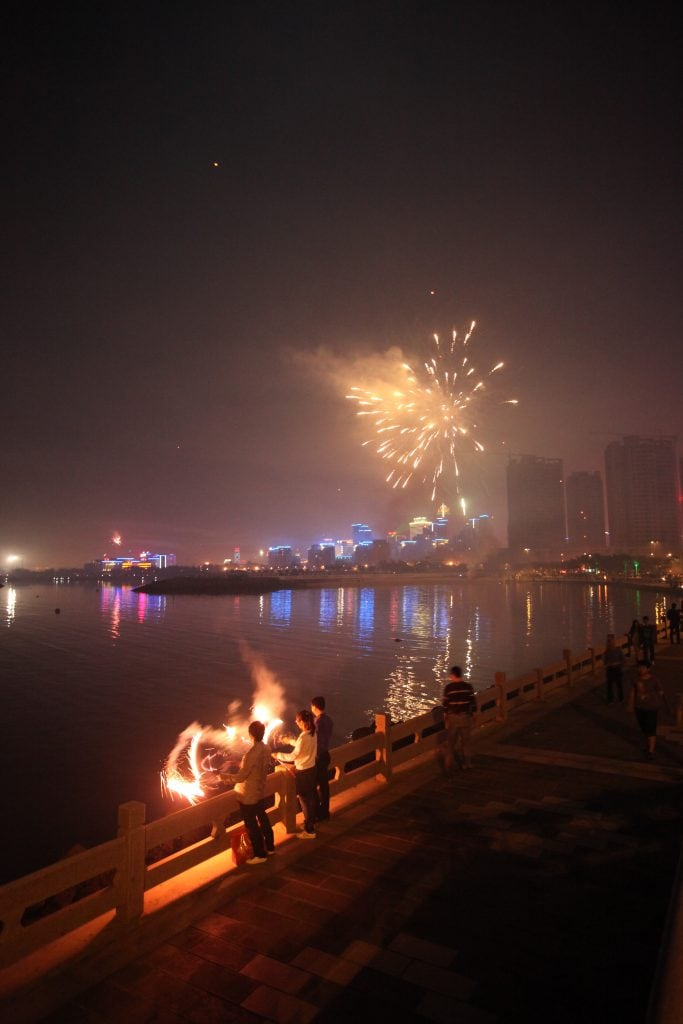 hainan china fireworks