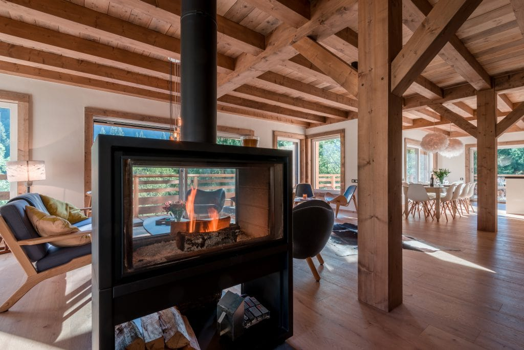 The white valley company luxury ski morzine log fire