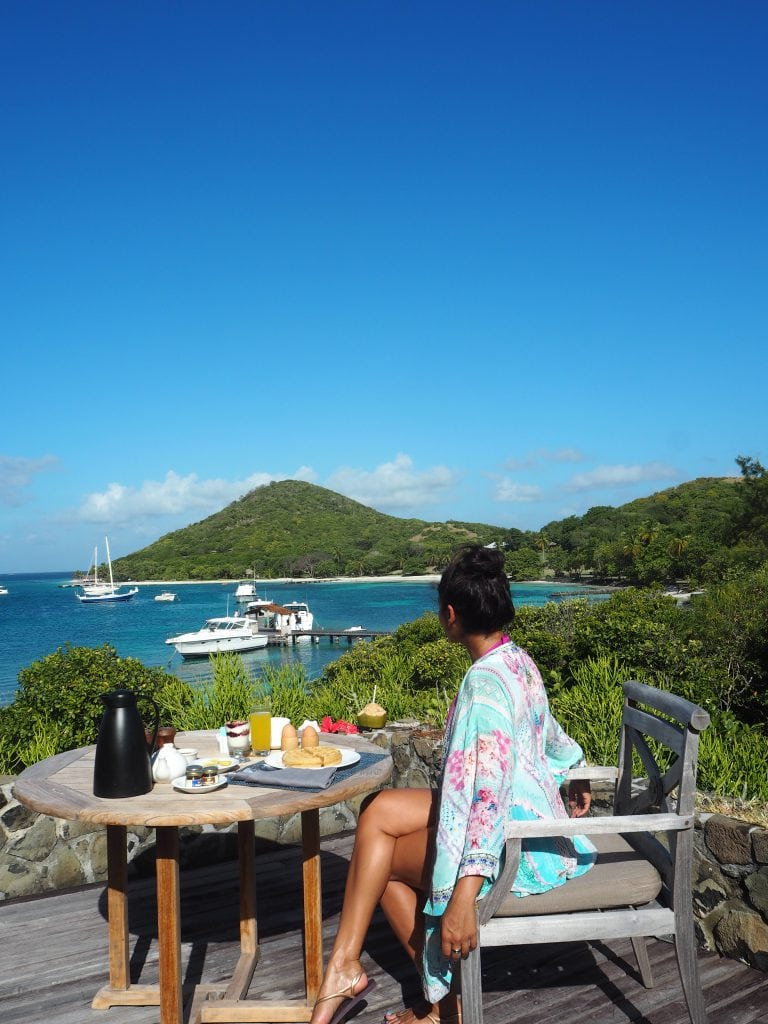 The Style Traveller al fresco breakfast in the caribbean