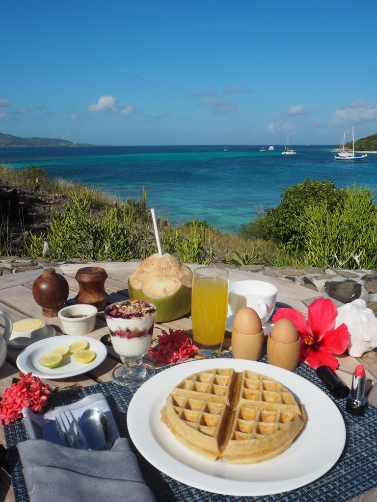 The Style Traveller al fresco breakfast in the caribbean petit st vincent