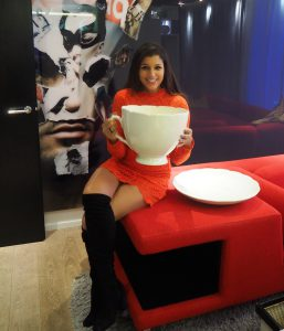 bonnie rakhit in the tea room at the w hotel
