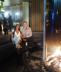 Bonnie Rakhit style traveller W Hotel bar and fireplace