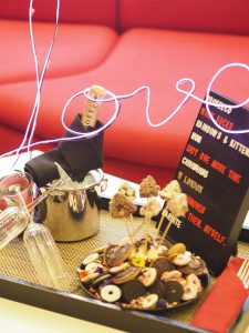 W hotel insiders Valentine's day gift for guests Champagne and cookies
