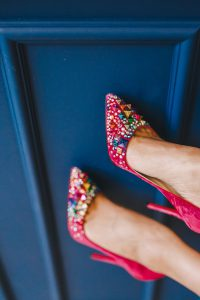 christian louboutin shoes at London Fashion week the Style Traveller