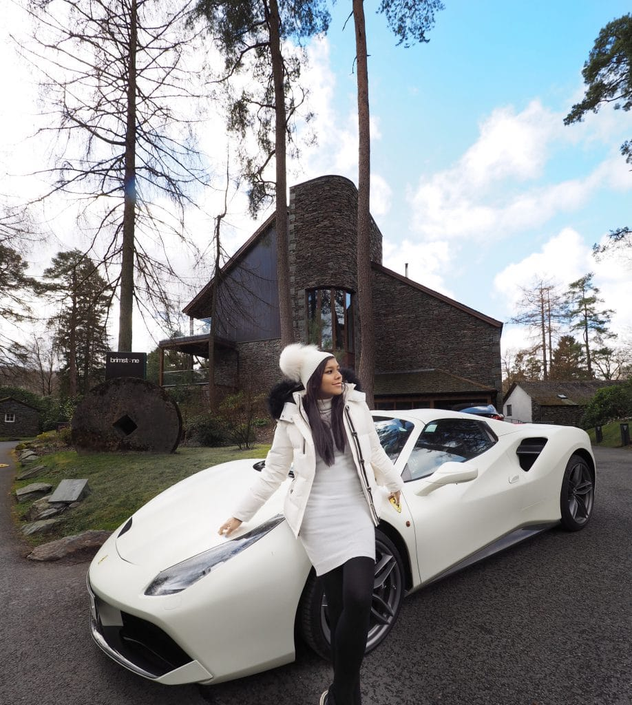 Bonnie Rakhit Ferrari spa break in the lake district