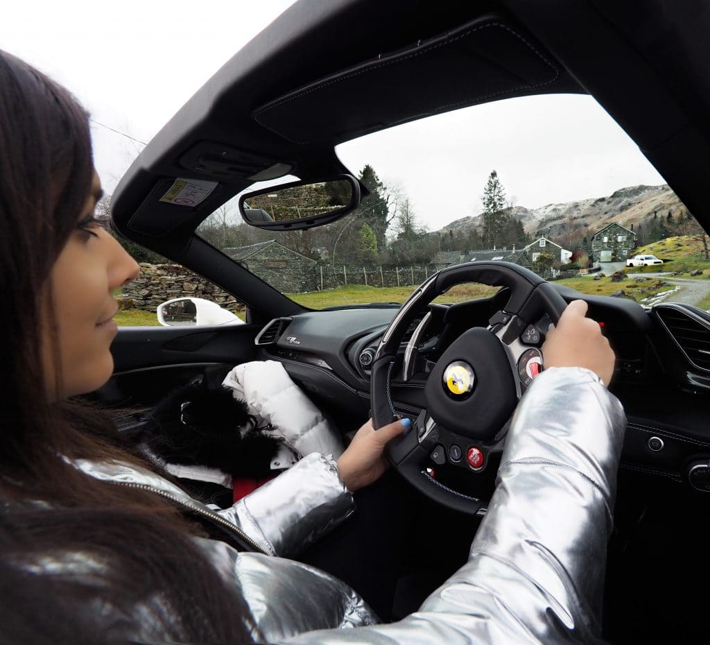 ferrari Bonnie Rakhit style Traveller girls driving sportscars