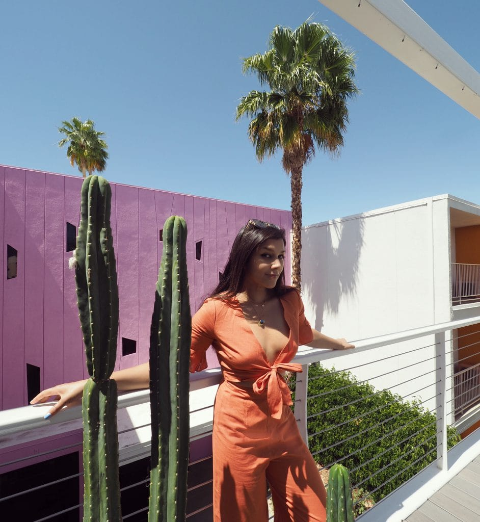 Hotel Paseo_Pool where to stay palm springs pink wall