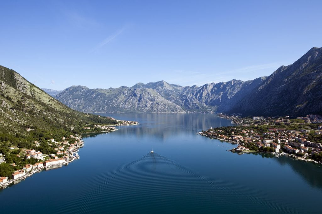 beautiful Kotor blue water lakes