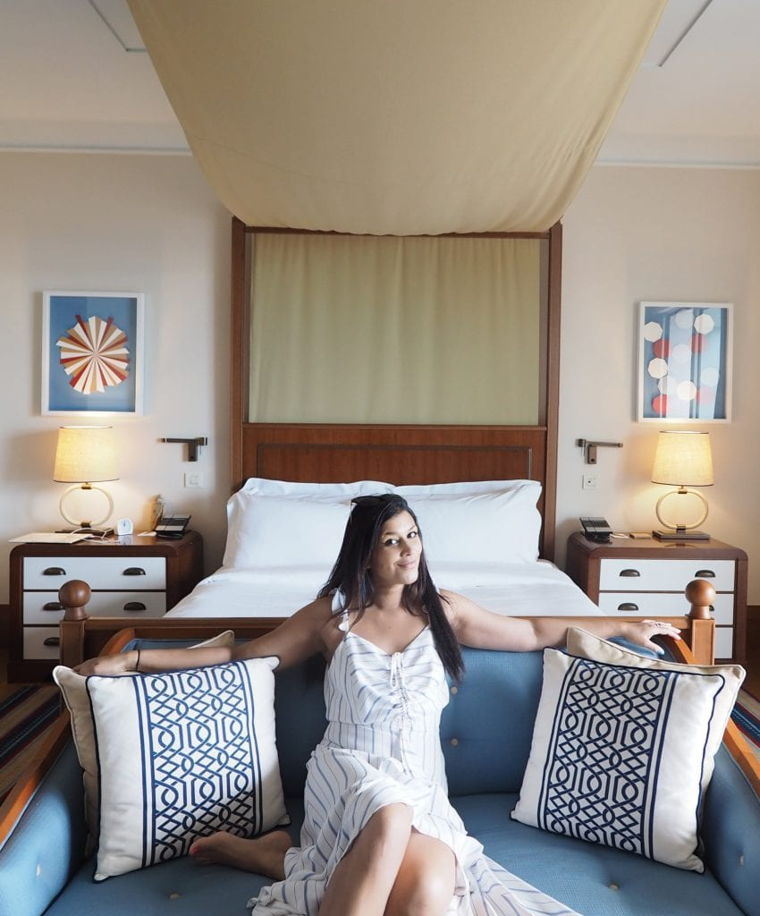 Bonnie Rakhit Style Traveller at Regent porto Montenegro bedroom decor