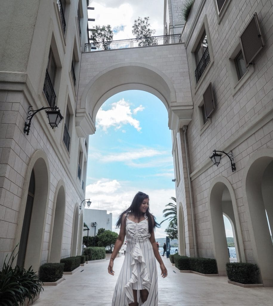 Bonnie Rakhit Style Traveller at Regent porto Montenegro luxury hotel where to stay europe