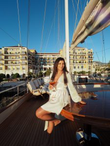 Bonnie Rakhit Style Traveller at Regent porto Montenegro luxury hotel where to stay european summer holiday